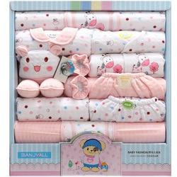 18 peça conjunto do bebê recém-nascido roupas menino 100% algodão infantil terno roupas da menina do bebê calças roupas do bebê chapéu bib ropa de bebe