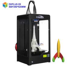 CreatBot 3d printer/ DX Plus03 large Build Size 300*250*520 mm/ Triple Extruder Metal Frame 3D Printer  DIY ABS Filament