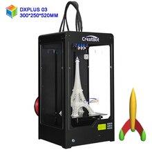 CreatBot stampante 3d DX Plus03 corporatura larga Dimensione 300*250*520mm Triple Estrusore Con Struttura In Metallo DIY ABS Filamento