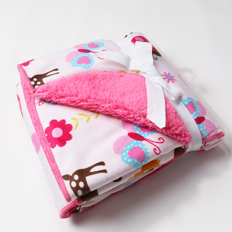 100% Polyestercarters baby girl fleece blanket pink Fun Animal World baby  blanket cobertor free shipping Size 30X40   -in Blanket   Swaddling from  Mother ... 734533d5c