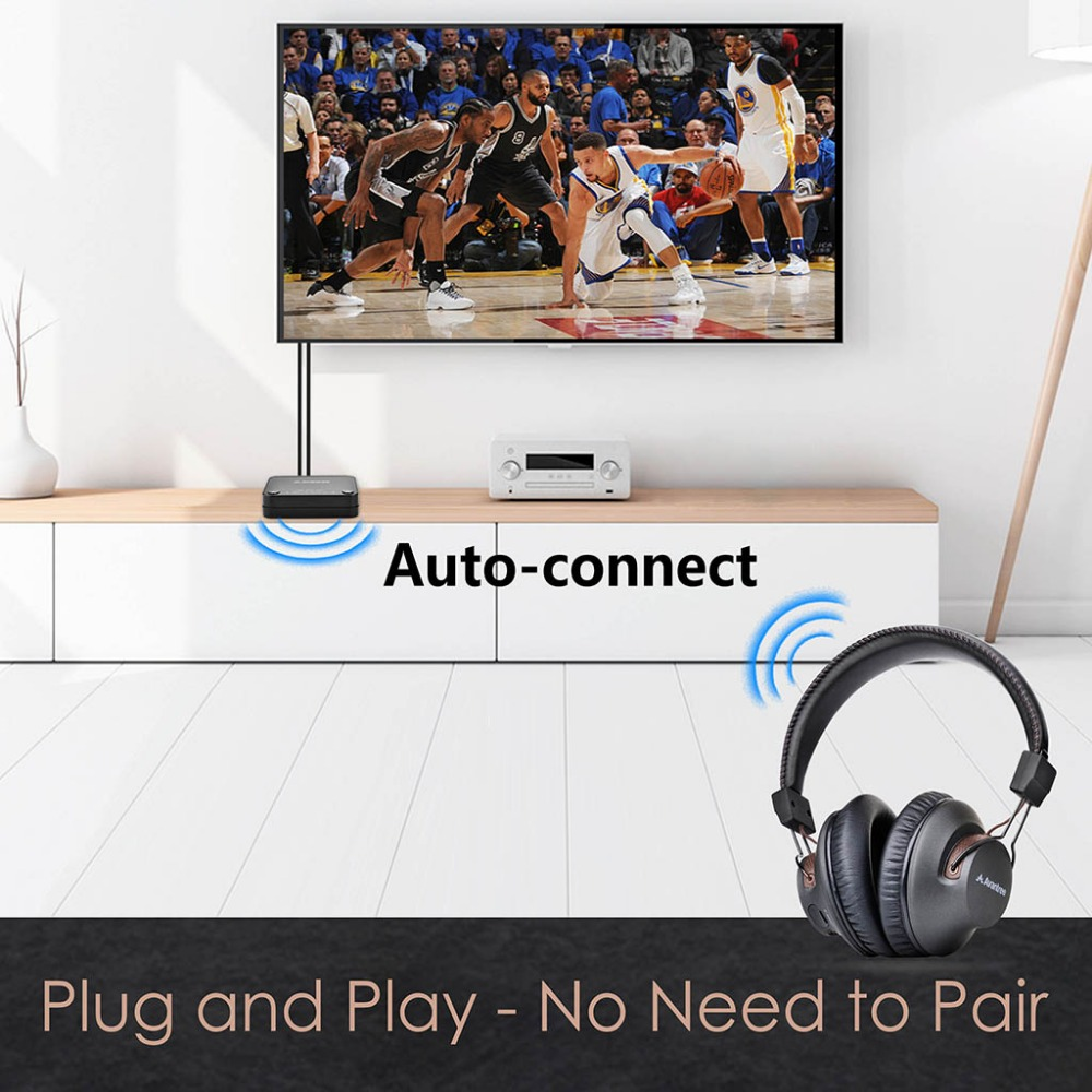 Avantree Wireless Headphones for TV with Bluetooth Transmitter SET For Optical RCA AUX Ported TVs Plug Play Long Range in Wireless Adapter from Consumer Electronics