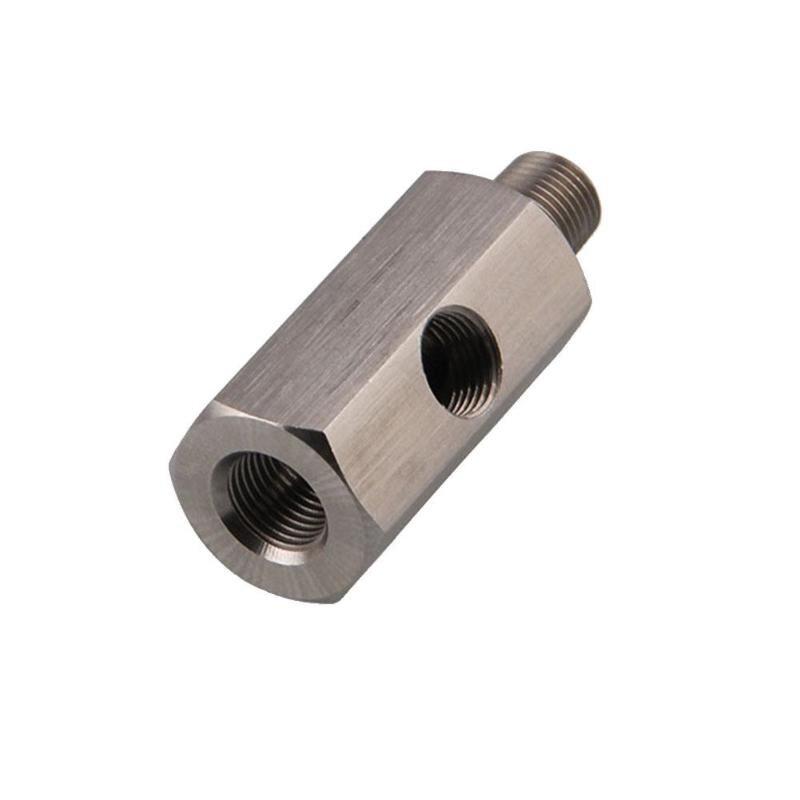1/8 ''BSPT Öl Druck Sensor T zu NPT Adapter Turbo Versorgung Feed Linie Gauge EP-CGQ197 Universal Hohe Qualität Auto zubehör