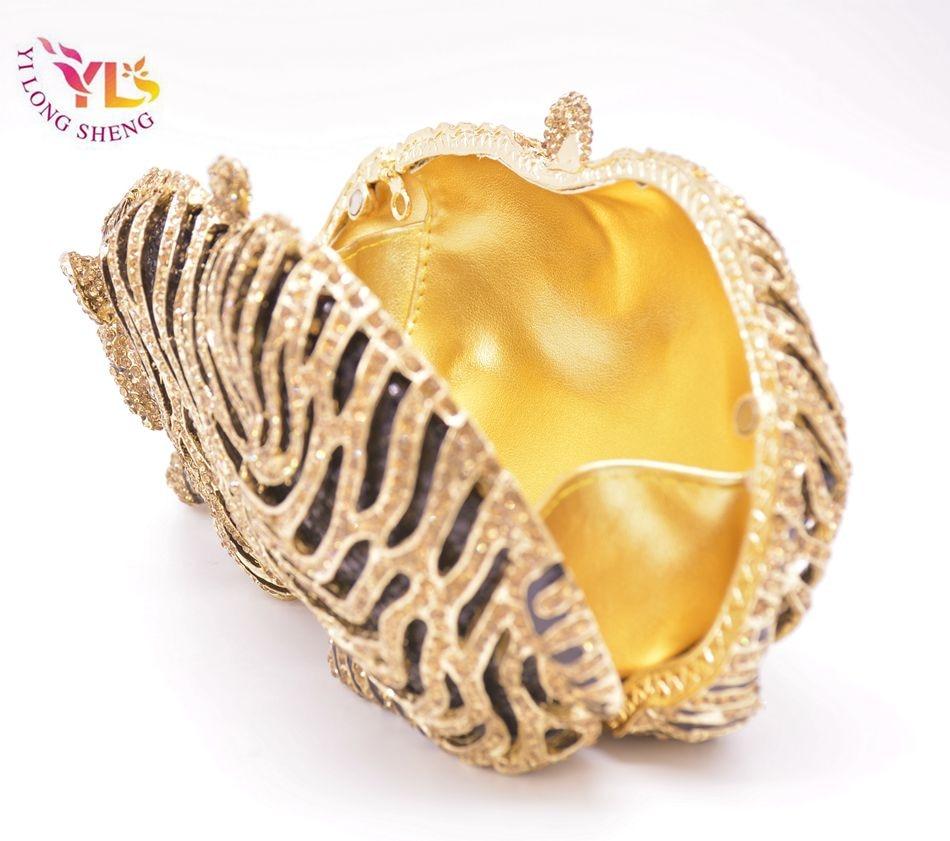Tygrysia torebka kryształowa Damska torebka w kształcie szalonego - Torebki - Zdjęcie 5