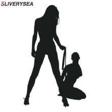 SLVIERSEA Funny Hot Classic Sexy Girls Car Stickers Bikini Decorative Wall Decal Vinyl Wrap Black/Silver