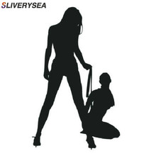SLVIERSEA autocollants muraux classiques et Sexy pour filles, autocollants décoratifs en Bikini, noir/argent housse de voiture en vinyle
