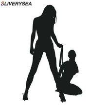 Slviersea 재미 있은 뜨거운 고전적인 섹시한 여자 차 스티커 비키니 장식적인 벽 스티커 전사 비닐 차 포장 검정/은