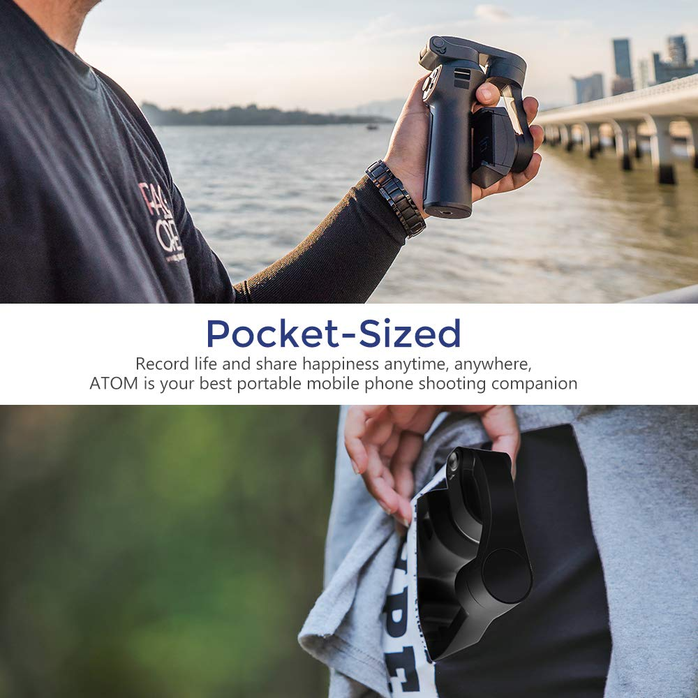 Snoppa Atom складной карманный Дрон Размер затрудняетесь в выборе правильного размера? 3 осевой ручной шарнирный стабилизатор для камеры для iPhone samsung XiaoMi huawei для Gopro 6 7 PK гладкой 4 - 4