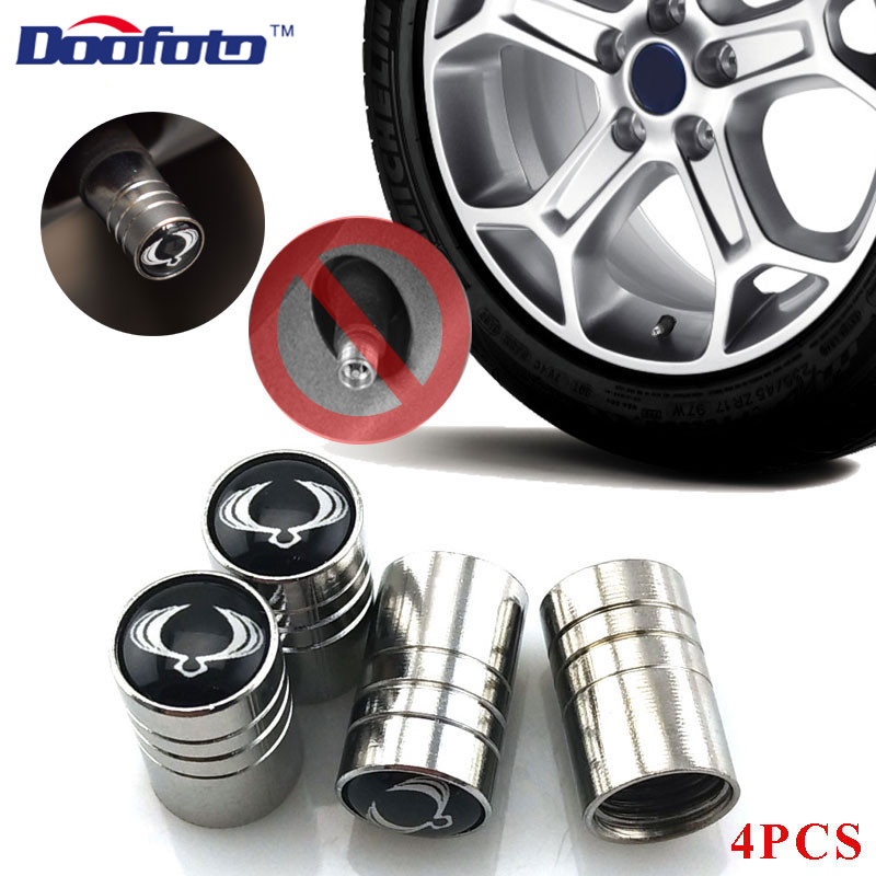 Doofoto Car Styling Auto Logo Stainless Steel Emblems Badge Metal Caps Cover Case For Ssangyong Rexton Kyron Korando Accessories