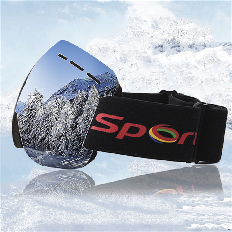 UV400 Layer Ski Goggles Anti-fog Masks Large Ski Eyewear Women Men Snowboard Skiing Goggles Outdoor Sports