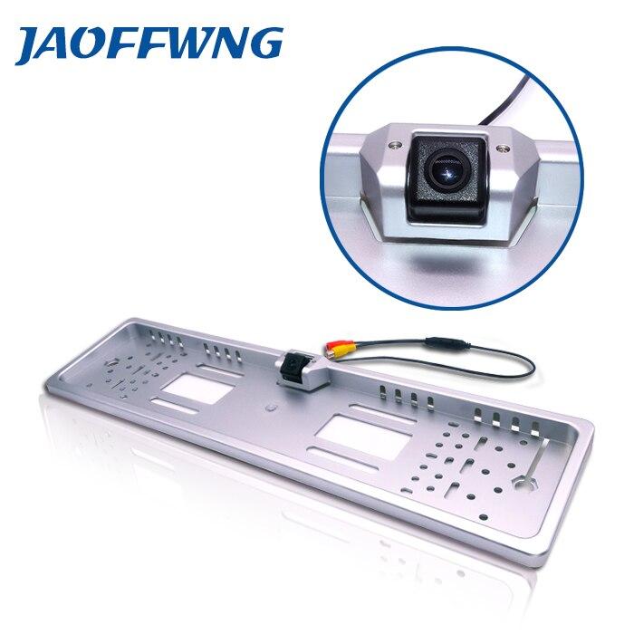 Usine directe vente CCD HD vue arrière caméra Européenne cadre de plaque d'immatriculation camera170 parking sauvegarde rétroviseur auto-caméra