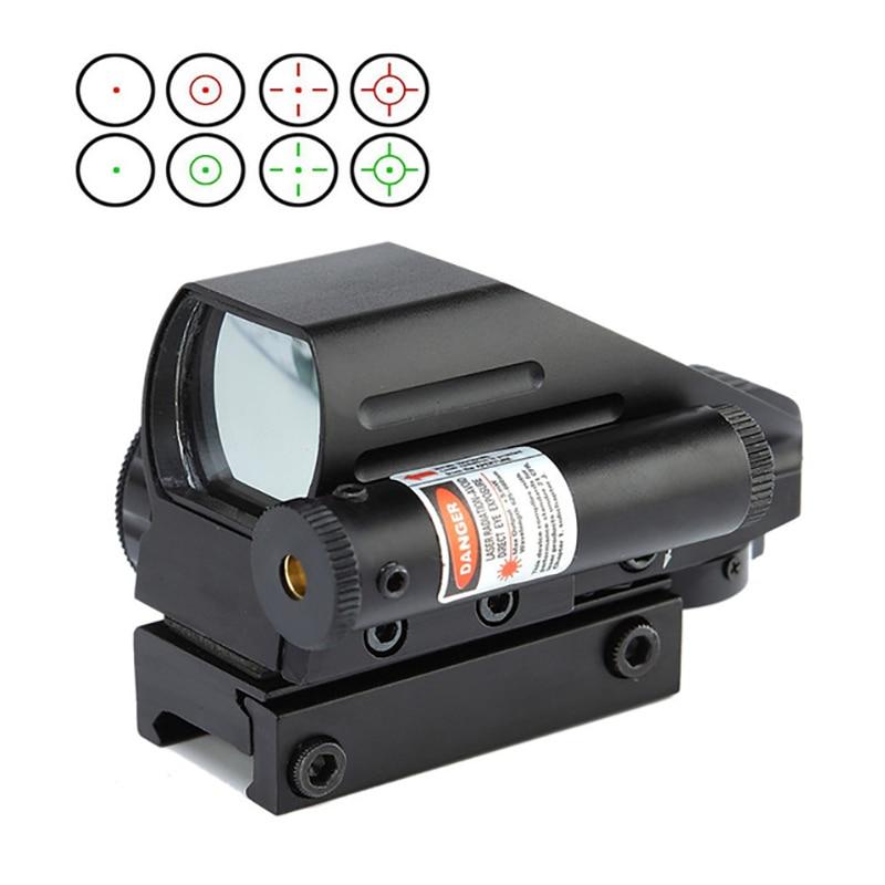 Tactical Optics Rifle Vista Holográfica 4 Tipo Reticle Reflex Red Dot Sight Scopes Riflescopes Pistola Tactical Airsoft Armas de Ar Comprimido