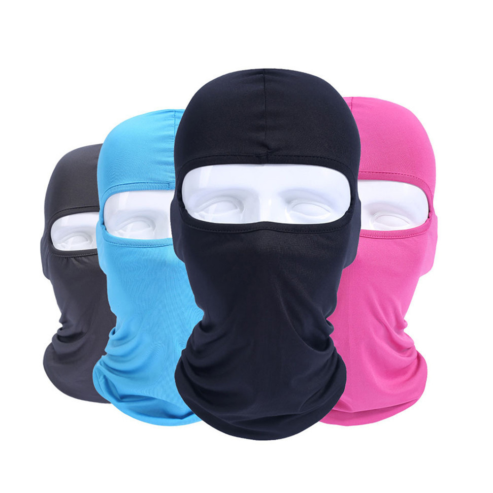 Balaclava Motorcycle Face Mask Headgear Full Face Masks For Motorcycle Helmet Summer Breathable Masque Maske Moto Riding Gear