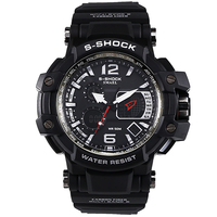 SMAEL Watches Men Pointer Type With High Dual Display Wristwatches Multifunctional LED Digital 50M Waterproof Electronic