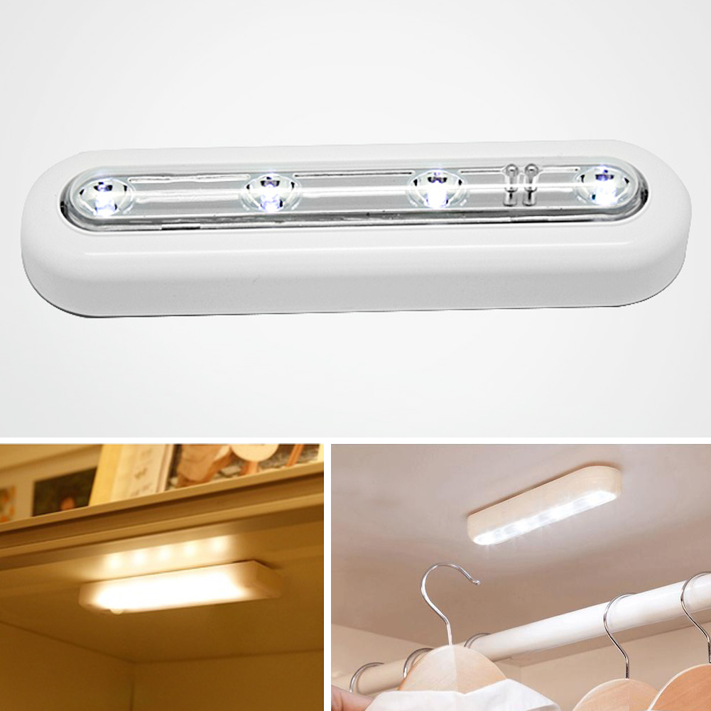 4 LED Touch Sensor Under Cabinet Swivel Push Cabinet Lamp