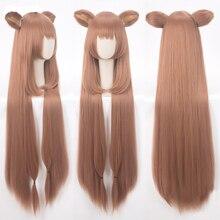 Tate no Yuusha no Nariagari Raphtalia Cosplay Wigs 100cm Long Heat Resistant Synthetic Hair Perucas Cosplay Wig + Wig Cap