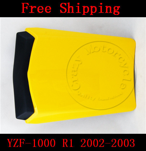 For Yamaha YZF 1000 R1 2002-2003 motorbike seat cover Motorcycle Yellow fairing rear sear cowl cover Free Shipping for yamaha yzf 600 r6 2006 2007 motorbike seat cover high quality motorcycle black fairing rear sear cowl cover