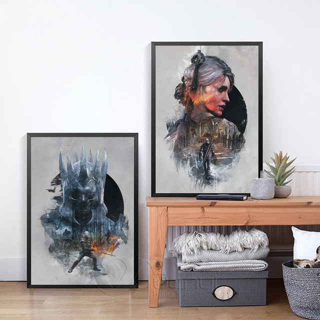 The Witcher 3 Hunting Wild Game Hot Game Artistic Posters And Prints Wall Art Canvas Painting Wall Pictures For Living Room 2