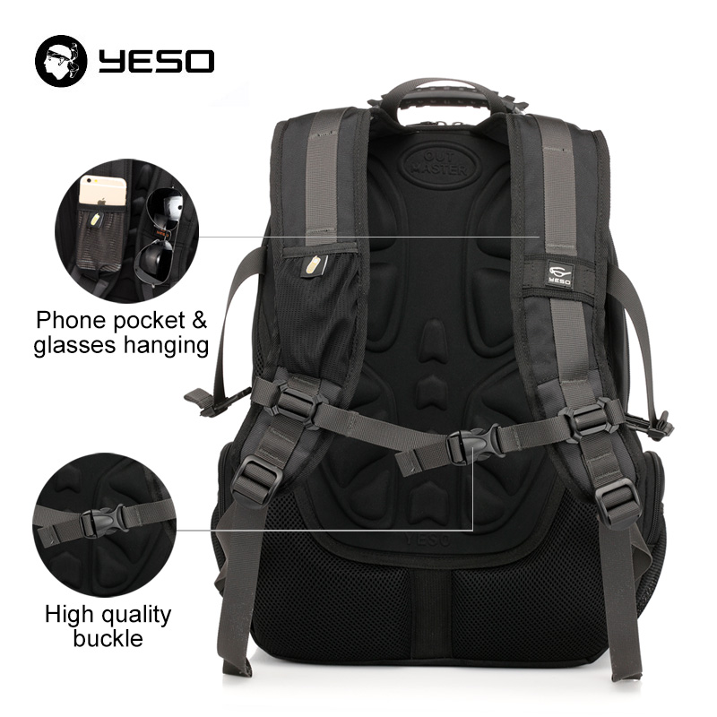 Image 4 - YESO Large Capacity Laptop Backpack Men Multifunction Waterproof 15.6inch Backpack For Teenagers Business Casual Travel Backpack-in Backpacks from Luggage & Bags