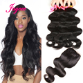 Rosa Full Cuticle Brazilian Body Wave With Lace Closure Cheap 4Bundles Human Hair With Closure Brazilian Virgin Hair WithClosure