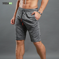WOSAWE Elastic Waist Running Shorts Quick Dry Training Jogging Workout GYM Shorts Loose Summer Sportswear