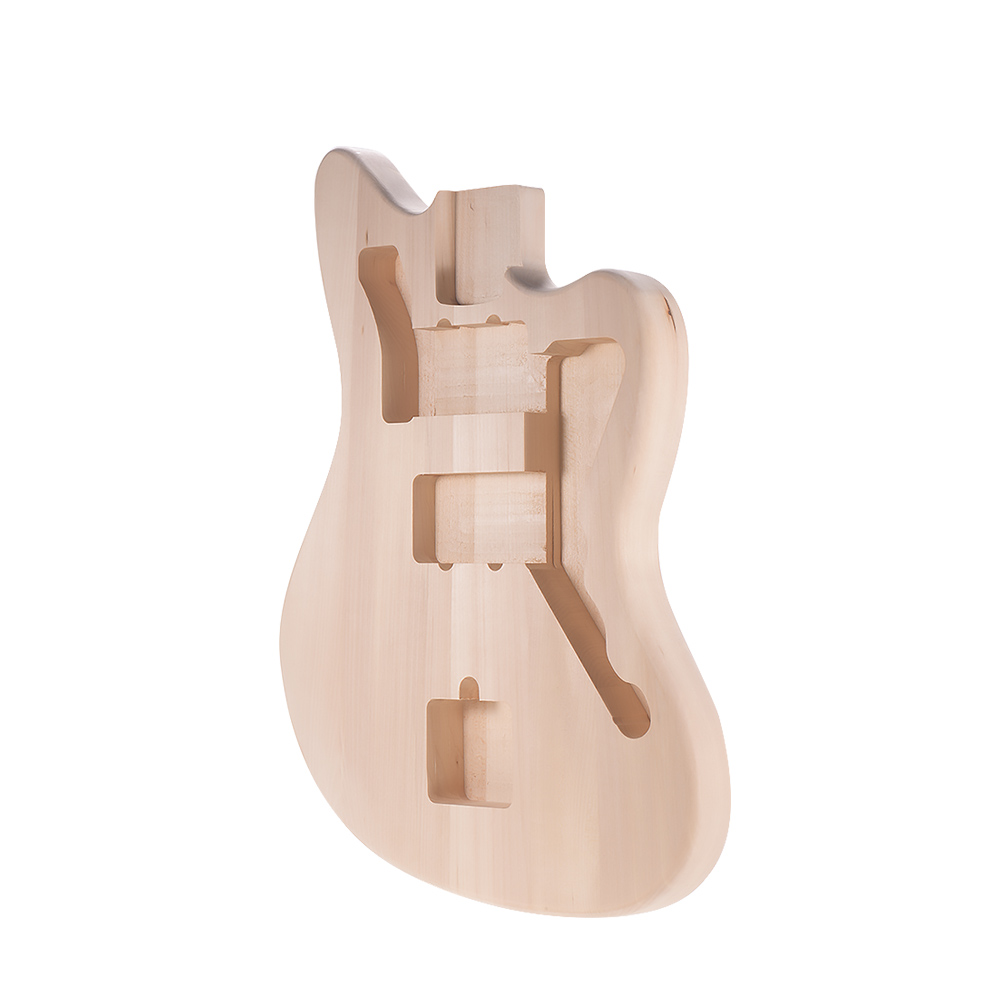 DIY Electric Guitar Unfinished Body Guitar Barrel Blank Basswood Guitar Body Replacement Parts for Mustang Guiatrs
