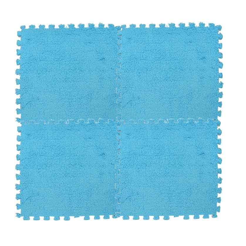 25*25cm crianças tapete espuma quebra-cabeça esteira eva shaggy veludo bebê eco piso 7 cores psw0629