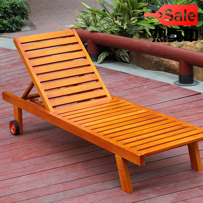 Wood Preservative Outdoor Garden Deck Chair Folding Chairs Beach Lying Bed Siesta Lazy Lounge In Sun Loungers From Furniture On Aliexpress