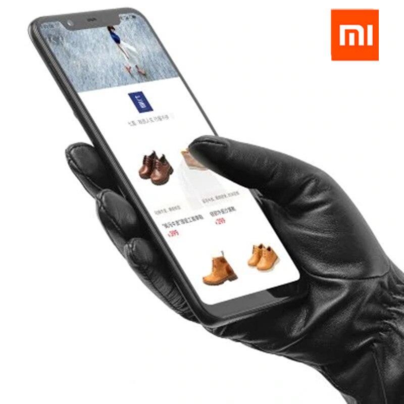 Guantes de pantalla táctil originales Xiaomi Mijia Youpin hombres/mujeres de piel de cordero de materias primas españolas para xiaomi smart home kits