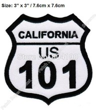 "3 ""Ons Snelweg 101 California Patch Rockers Racer Chopper Outlaw Mc Motorcycle Biker Vest Patch Jas Terug Ijzer Op badge(China)"