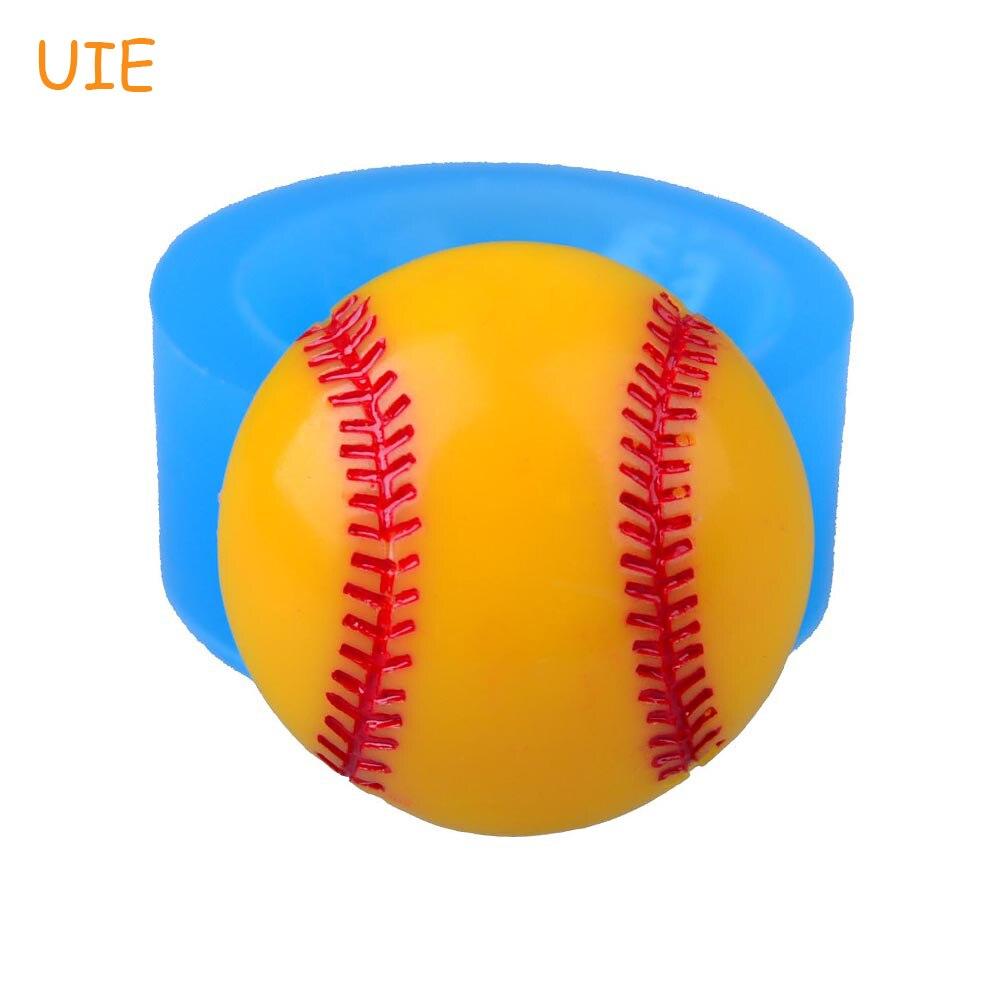 FYL419U 24,8 мм Половина Бейсбол Силиконовые Push Mold-кекс Топпер Помады Ремесло, шоколад, конфеты, смола, ювелирные изделия, Духовка безопасной форм...