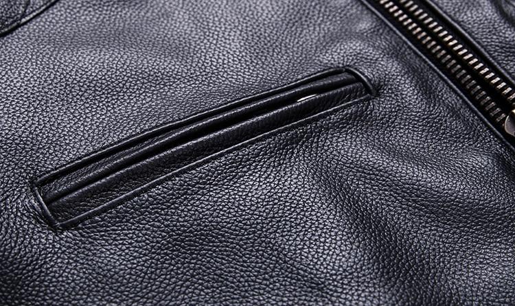 Brand new style motor style leather jacket,mens genuine leather coat.plus size black slim jacket.cowhide.cheap