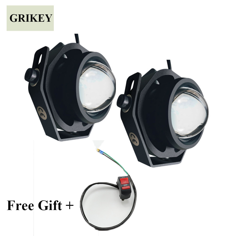 2PCS Led Car Fog Lamp Super Bright 1000LM Waterproof DRL Eagle Eye Light External Lights Daytime Running Lights auto super bright 3w white eagle eye daytime running fog light lamp bulbs 12v lights car light auto car styling oc 25