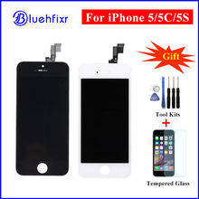 10 PCS AAA Quality LCD for iPhone 5 5C 5S Touch Screen Digitizer Assembly Replacement LCD Display for iPhone 5S Black/White