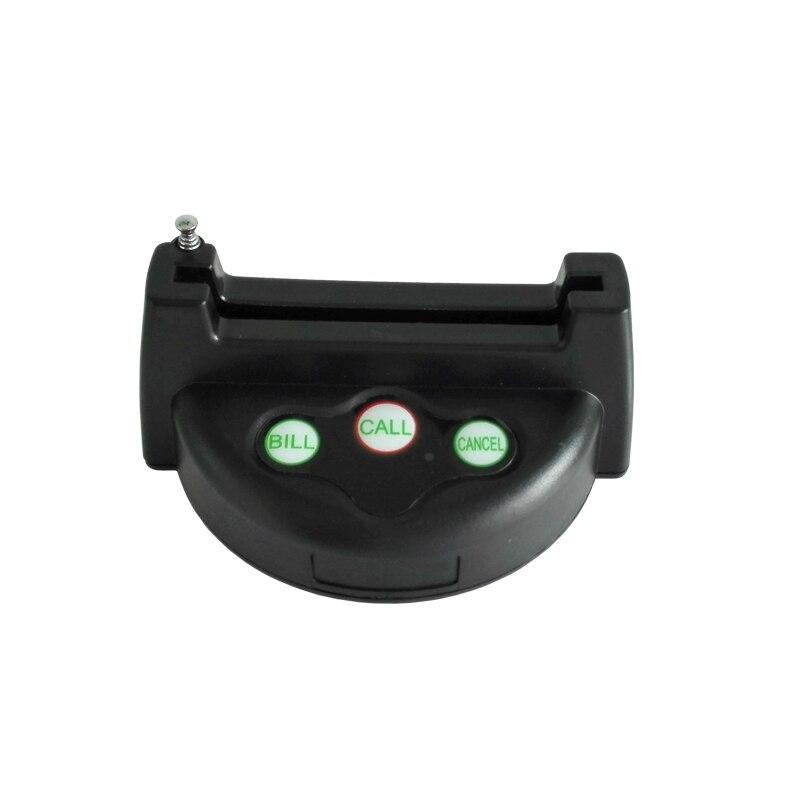 5 шт./упак. 3-ключ передатчик с антенной Таблица Беспроводной кнопку вызова K-G3 для ресторан отеля
