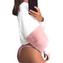 Pink Cute Women shirt Long Sleeve Roupa Mujer Blouse shirts Short Plush Loose Tracksuit Pullover Body Suit For Women WS1363U