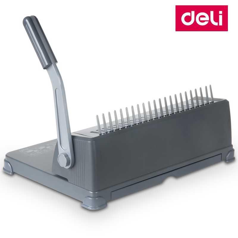 Deli 3872 Manual Comb binding machine office Financial binding