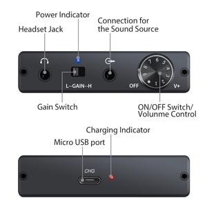 Image 3 - Proster HiFi אוזניות מגבר אוזניות מגבר נייד מגבר 3.5mm אודיו Rechargeble עכבת עבור MP3 MP4 דיגיטלי נגן