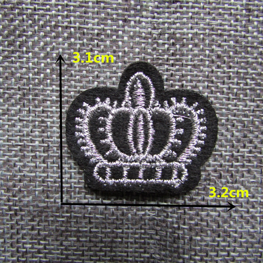 1d238fe998a0 100PCS Only beautiful crown patternHot melt adhesive clothing patches  stripes applique embroidery DIY accessories C346 patch