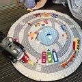 Venda quente Multi-Função Animais Dos Desenhos Animados Macaco Pato Saco de Buggy Carros Padrão Tapetes de Jogo Do Bebê Engatinhando Tapete Tapete Para Brinquedos dos miúdos