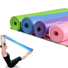 1.2m Yoga Pilates Stretch Resistance Band Exercise Fitness Band Training Elastic Exercise Fitness Rubber for bodybuilding