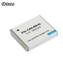 Dinto 1 قطعة 1600mAh بطارية الرقمية حزمة NB 6LH NB 6L NB6L بطاريات بديلة لكانون PowerShot S90 SD770 D10 IXUS 85IS