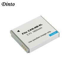 Dinto 1pc 1600mAh דיגיטלי סוללות NB 6LH NB 6L NB6L החלפת סוללות עבור Canon PowerShot S90 SD770 D10 IXUS 85IS