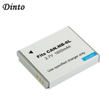 Dinto 1pc 1600mAh batterie numérique NB 6LH NB 6L NB6L Batteries de remplacement pour Canon PowerShot S90 SD770 D10 IXUS 85IS