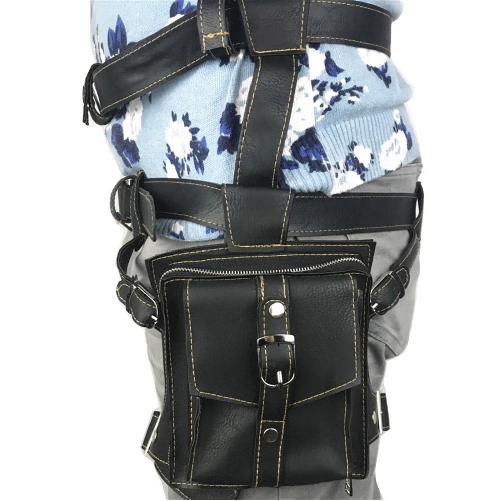 Hot Game PUBG Bag Playerunknown Battlegrounds Cosplay Straps Belt Waist Bag Pu Leather Pocket  Props Halloween Fancy Accessories