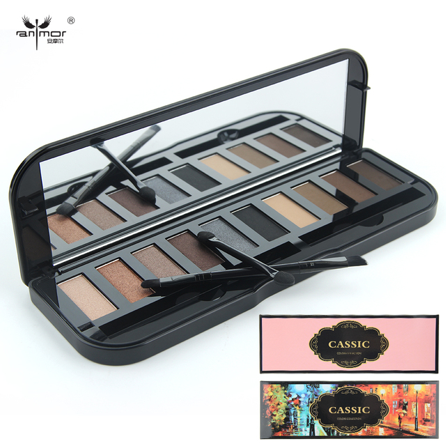 10 Colors Eye Shadow Palette Professional Makeup Palette Including Eyes Primer Luminous Lip Gross Blusher Powder