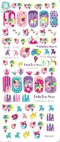 DS045 Water Transfer Foils Nail Art Sticker Harajuku Twins Stars Manicure Decals Minx Nail Decorations Stickers