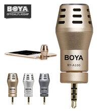 Boya BY-A100 smartphone micrófono omnidireccional condensador direccional micrófono para iPhone 6 6 s más iPad iPod Android DJI Osmo gimbal