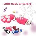 Caliente Venta USB flash Drive de 64 GB pata Del Gato de Dibujos Animados Pen drive pendrive 32 GB Memoria USB Flash Drive Pendrive 64 GB USB Flash Clave cadena