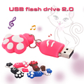 Hot Sale USB flash Drive 64GB Cat paw Pen drive Cartoon pendrive 32GB USB Stick Flash Drive Pendrive 64GB USB Flash Key Chain