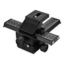 Para Pro 4 Way Em Liga de Magnésio-Macro Focando Rail Slider Close-up Tiro Fotografia Tripé Cabeça para DSLR câmera